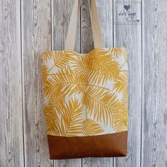Yellow Leaves, Artificial Leather, Handmade Bags, Mustard Yellow, Woven Fabric, Simple Designs, Shopping Bag, Beige, Shoulder Bag