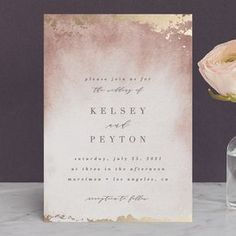 """""""Ethereal Wash"""" – Foil-pressed Wedding Invitations in Ocean by Everett Paper Goods. Ethereal Wash Foil-pressed Wedding Invitations in Ocean by Everett Paper Goods. Wedding Invitations Elegantes, Laser Cut Wedding Invitations, Destination Wedding Invitations, Wedding Invitation Wording, Wedding Stationary, Wedding Planning, Event Invitations, Invitations Online, Engagement Invitations"""