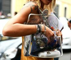 see-through transparent purses handbags