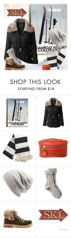 """""""Puffer Coats"""" by jill-bh ❤ liked on Polyvore featuring ArteHouse, LE3NO, Chanel, Barefoot Dreams, Fat Face and Montelliana"""