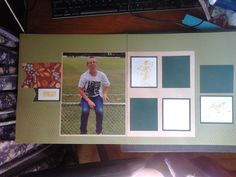 the right hand page still needs a few photos but I am happy with the layout. I used Olive, White Daisy & Ponderossa Pine cardstock, Honey Ink, B&T duo is from Pathfinding & the stamp sets are D1544 Distressed Background and D1643 Cricket