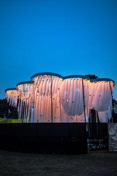 Abin Design Studio Constructs Pavilion of Canopies for Indian Cultural Festival,© Sayantan Chakraborty. Image Courtesy of Abin Design Studio