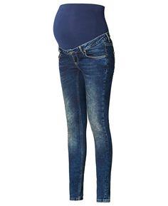 Deze blauwe positie jeans van Supermom heeft een skinny pasvorm. Het model heeft een tricot band rondom de buik. De zwangerschapsjeans is voorzien van een verstelbare tailleband, riemlussen, een knoopsluiting en een sier gulp. Het model is verkrijgbaar van taillemaat 27 t/m 33.