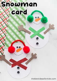 Snowman Card - adorable snowman craft for kids! Make this snowman card that opens up to write a special message inside! Kids crafts and activities. Winter Activities For Kids, Winter Crafts For Kids, Crafts For Kids To Make, Christmas Activities, Projects For Kids, Winter Ideas, Christmas Arts And Crafts, Kids Christmas, Handmade Christmas