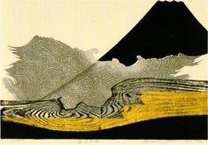 Volcano, Japanese print.