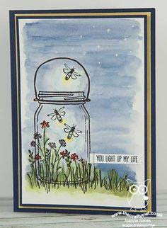 Jar of Love Light-Up Fireflies Card | The Crafty Owl's Blog | Bloglovin'