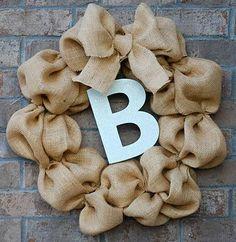 DIY Burlap Crafts: DIY How to Make a Burlap Wreath
