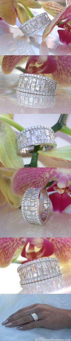 Noble Diamond Band with Baguette & Brilliant Cut Diamonds | 2.38 ct. F VS/VVS/IF | Whitegold 18K - Like: https://www.facebook.com/Noble-Juwelen-150871984924926/
