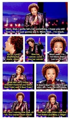 PP: Wanda Sykes on coming out as black - lol.    Funny on so many levels - thanks, Wanda!