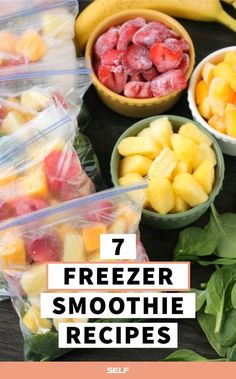 11 Frozen Healthy Smoothie Recipes To Prep On Sundays Smoothies are the best. The breakfast fave is a beautiful, tasty, and nutritious morning go-to, and it's super easy to make. Smoothie Prep, Freezer Smoothie Packs, Fruit Smoothie Recipes, Easy Smoothies, Frozen Fruit Smoothie, Vegetable Smoothies, Jelly Recipes, Morning Smoothies, Nutritious Smoothies