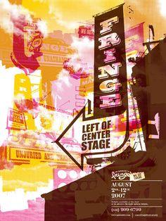 Bill Thorburn poster design for Minneapolis Fringe Festival