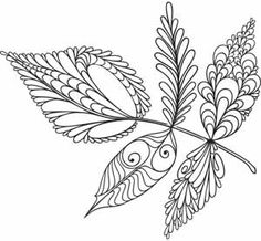 From Urban Threads - an embroidery design for Leaf Variations - an idea for a zentangle project Quilling Patterns, Zentangle Patterns, Embroidery Patterns, Hand Embroidery, Embroidery Scissors, Tangle Doodle, Doodles Zentangles, Doodle Drawings, Doodle Art