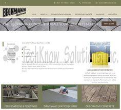 Beckmann Concrete Forms Website #techknowsolutions