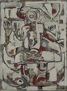 Ian Fairweather: Roi Soleil Born England lived and worked in Bribie Island QLD Australian Painting, Australian Artists, Example Of Abstract, Abstract Art, 1950s Art, Lovers Art, Sculpture Art, Shanghai, Contemporary Art