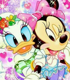 Diamond Painting Minnie and Daisy Kit Walt Disney, Disney Magic, Disney Mickey, Disney Art, Disney Collage, Mickey Mouse E Amigos, Mickey Mouse And Friends, Mickey Minnie Mouse, Disney Dream