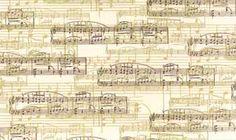 SHEET MUSIC 14KT GOLD FABRIC
