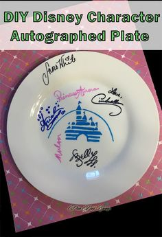 Disney Crafts, Disney DIY Autographed Plate