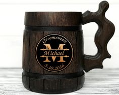 Dungeon and Dragons Mug. D&D Mug. Personalized Gamer Mug. Personalized Gifts for Men - Products - Wooden Beer Mug, Wood Mug, Beer Mugs, Gifts For Beer Lovers, Gifts For Him, Zelda Gifts, More Beer, Personalized Mugs