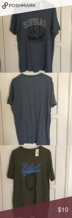 2 XL Shirts from the GAP Up for sale are 2 NWT XL T-Shirts from the GAP. These have never been worn and are made of cotton. No trades! If interested please use the offer button! Thanks! Gap Shirts Tees - Short Sleeve
