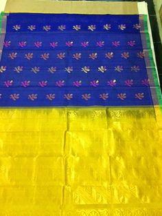 Elegant Fashion Wear: Latest Collection Assam silk bhuta sarees  Price :3500   #silksaree #designersaree