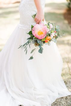 Pretty dress: http://www.stylemepretty.com/little-black-book-blog/2015/02/25/dazzling-hot-pink-wedding-inspiration-a-pop-of-confetti/ | Photography: Caroline Lima - http://www.carolinelima.com/