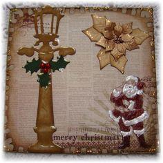 Scraps: Julekort med Lygtepæl