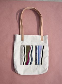 Purse Display, Fabric Patch, Tote Purse, Woven Fabric, Cotton Canvas, Hand Weaving, Patches, Totes, Minimalist