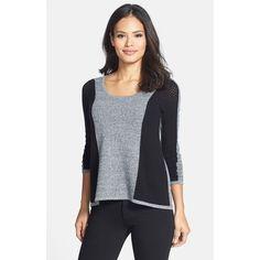 Women's Quinn Colorblock Pointelle Cashmere Sweater