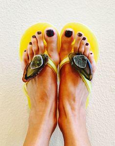 Agate & Druzy flip flops #lvcr8 $145