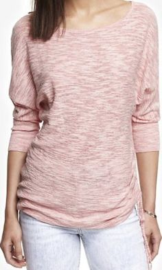 MARLED SLUB KNIT SIDE RUCHED TUNIC SWEATER from EXPRESS **got it in grey- love it!!**