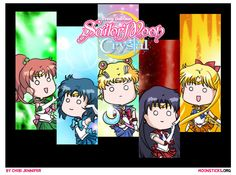 Pretty Guardian Sailor Moon Crystal Sailor Senshi Character Designs: MoonSticks Style