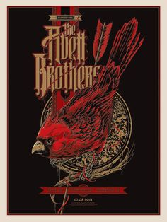 The Avett Brothers poster Greensboro, NC 2011 by Ken Taylor