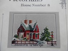 Judith Kirby's Victorians Cross Stitch Pattern Book House 8 Christmas Cottage | eBay