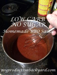 Low Carb No Sugar Homemade BBQ Sauce is a low carb, gluten free, dairy free, no sugar added homemade bbq sauce with only 2 carbs per serving! Keto Bbq Sauce, Keto Sauces, Homemade Barbecue Sauce, Barbecue Sauce Recipes, Low Carb Sauces, Homemade Bbq, Homemade Sauce, Low Carb Recipes, Cooking Recipes