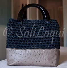Crochet bag #crochet #lycraribbon