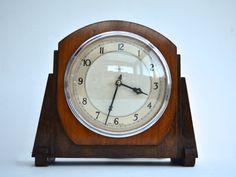 1930s Ferranti Electric Clock Mantel Clock Art Deco by FillyGumbo
