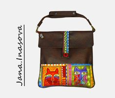 """Kabelka \""""the cats\"""" Messenger Bag, Jewelry Accessories, Satchel, Fashion Jewelry, Backpacks, Handmade, Jewellery, Style, Cats"""