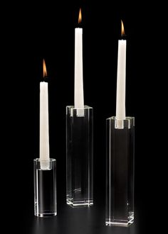 Glass Crystal Dinner Taper Candle Holder Modern Wedding Event Table