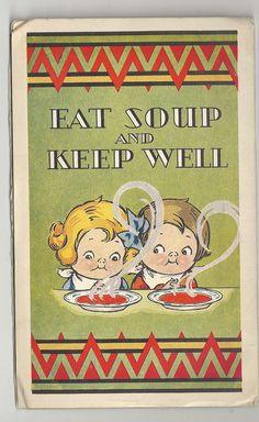 original Campbells Soup advertising booklet, THE OPTIMIST, MARCH 1930,