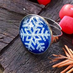 Boho ring Statement ring Hippie jewelry Hippie ring Adjustable ring Glass jewelry Jewelry gift Jewelry for wife Christmas gift Snowflake by IceWorks on Etsy https://www.etsy.com/listing/485106765/boho-ring-statement-ring-hippie-jewelry
