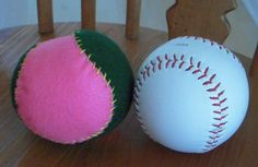 How to make a hand sew baseball (which means you can embroider the pieces before you put it together!).
