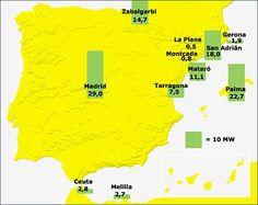 Centrales de #residuos urbanos en España Maps
