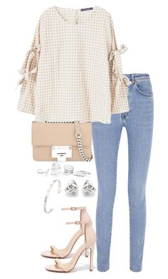 """""""Untitled #3523"""" by theeuropeancloset on Polyvore featuring Yves Saint Laurent, MANGO, Liliana, Jimmy Choo, GUESS, Georgini and Gucci"""
