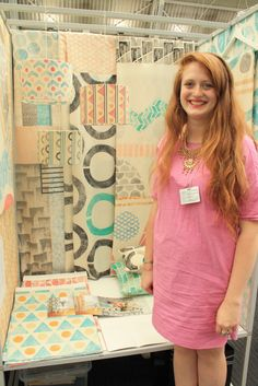 Izzi Rainey is a Printed Textile Designer from Glasgow School of Art http://blog.artsthread.com/2014/06/designers-14-part-1-textile-print/