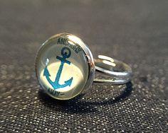 """Ringe - Cabochon-Ring """"Anker"""" - ein Designerstück von Soulmate-Works bei DaWanda"""
