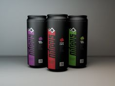 Nitrous energy drink packaging. Is black back? PD