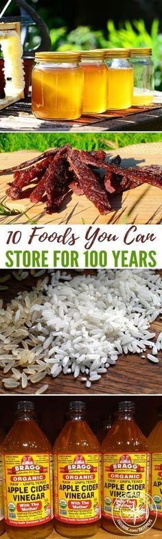Some food products last few hours, others a few days or a few weeks or a few months. These foods can be stored for 100 #prepping #preparedness #survival #foodstorage