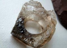 Large Smoky Quartz Crystal Ring - Gorgeous