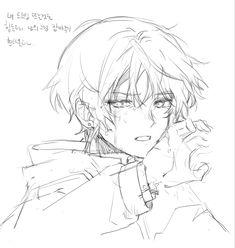 Anime Boy Sketch, Anime Drawings Sketches, Cool Drawings, Manga Drawing Tutorials, Art Tutorials, Pretty Art, Cute Art, Sketchbook Inspiration, Cartoon Art Styles