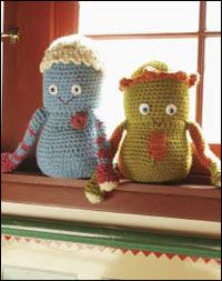 Free Amigurumi Tutorial #1: Doug and Gordo crochet toys